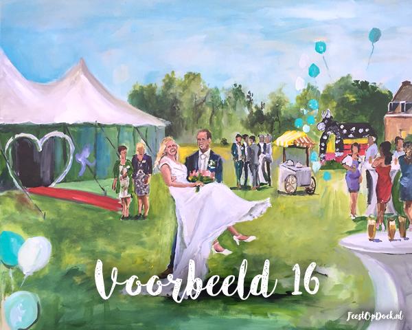 schilder op event