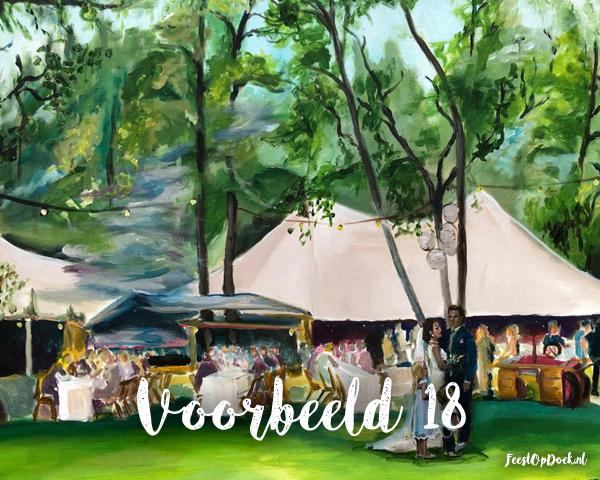 schilderij van een bruiloft