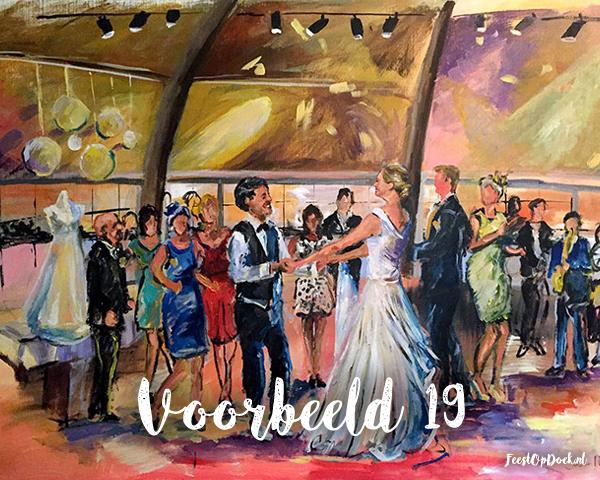 schilderij van een feest