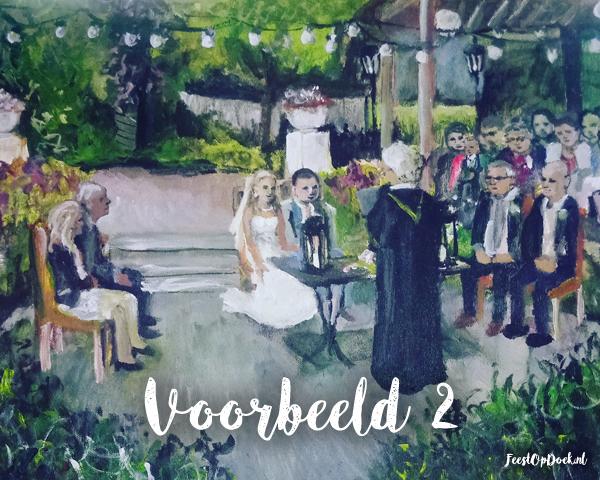 Feest Op Doek Bruiloft Schilder